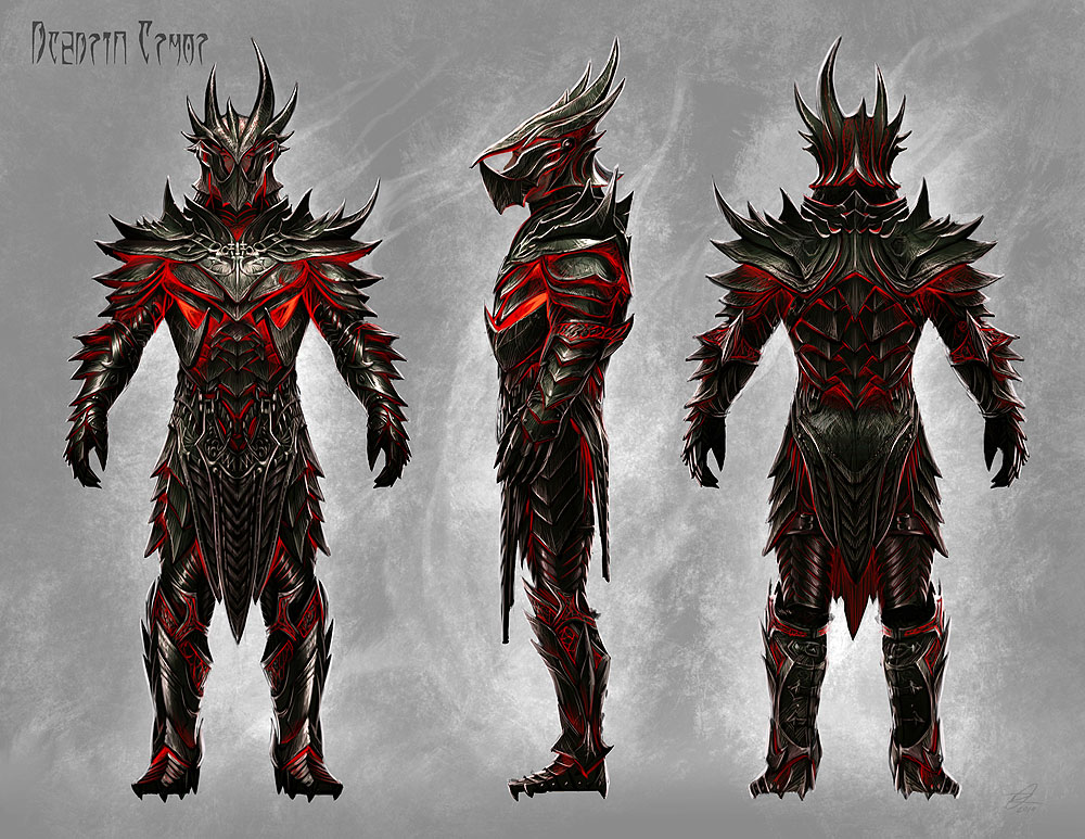 Daedric Armor The weapons needed to convey